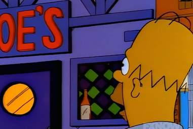 Homer Simpson looking at Moe's