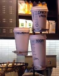 Starbucks sizes