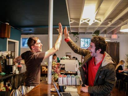 barista high five