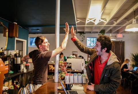 barista high five