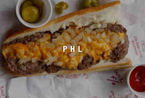 Philadelphia Airport cheesesteak