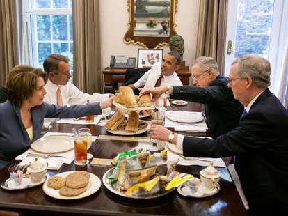 obama eating