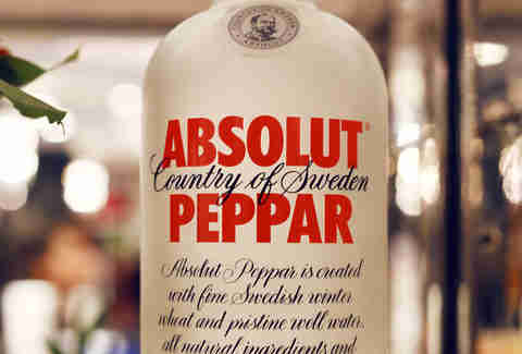 Absolut Peppar bottle
