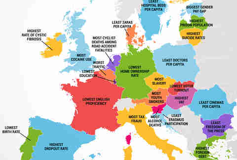 What every European country is the worst at