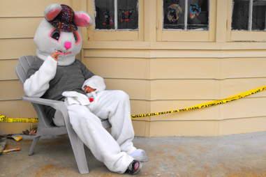 Easter Bunny smoking