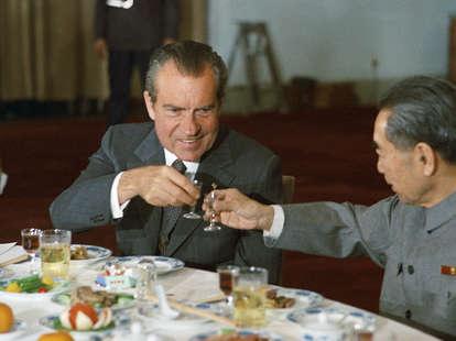 President Nixon and Chinese Premier Zhou Enlai