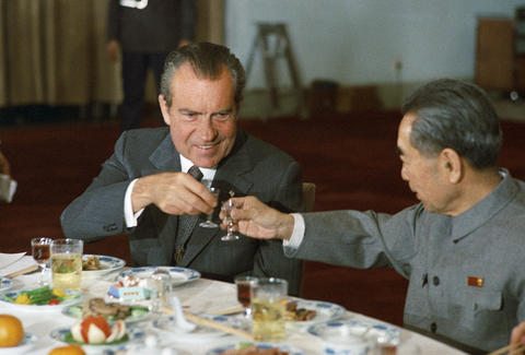 President Nixon and Chinese Premier Zhou Enlai
