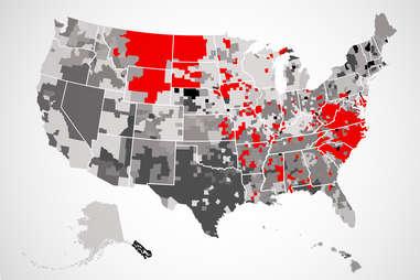 hardee's US map