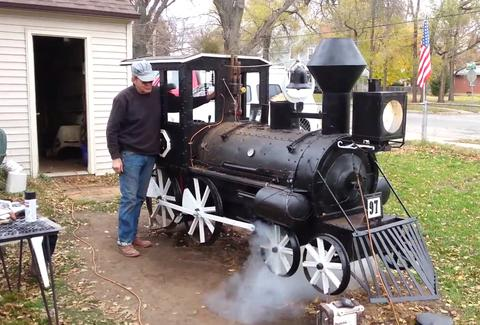 train steam engine bbq smoker