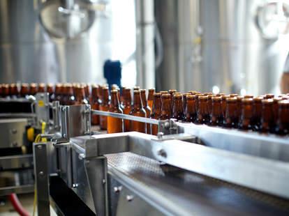 beer brewing bottle line