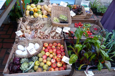 Organic Vegetables at the Stroud Farmers Market