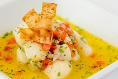 Scallop ceviche at Council Oak Hard Rock