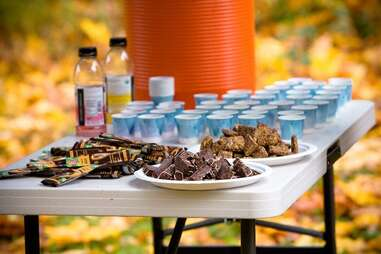 Mud & Chocolate refreshments