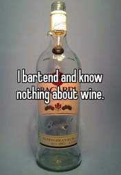 Bartender knows nothing about wine