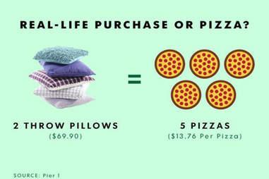 throw pillow pizza