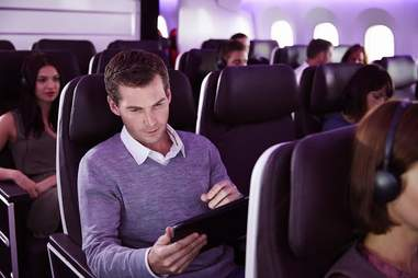 In flight WiFi Virgin Atlantic