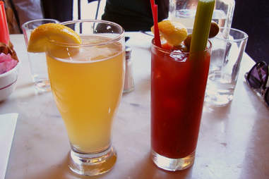 mimosa and bloody mary