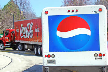 Coke and Pepsi trucks