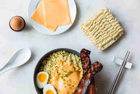 Bacon, eggs, and cheese ramen — Thrillist Recipes