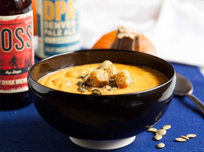 Pumpkin Beer Soup — Thrillist Recipes
