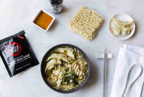 Miso gyoza ramen — Thrillist Recipes