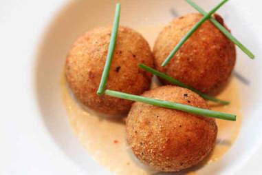Fried Mashed Potato & Bacon Balls
