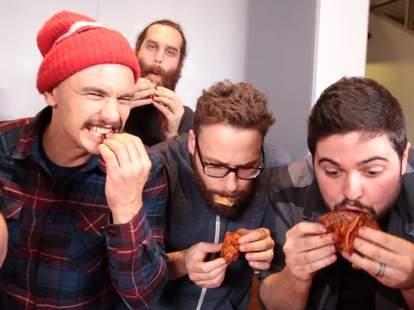 James Franco, Seth Rogen, and Epic Meal Time Korean BBQ lasagna