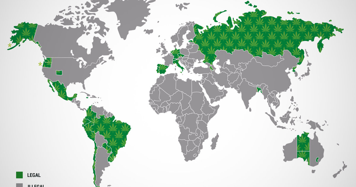 Which Countries In The World Is Marijuana Legal Thrillist - Us map on weed laws