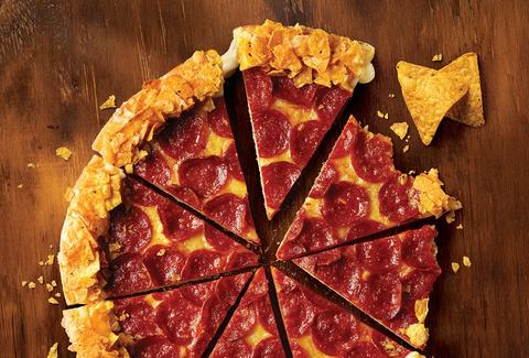 pizza hut doritos crunchy crust