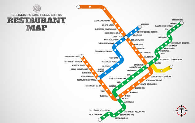 Montreal's first-ever Metro restaurant map