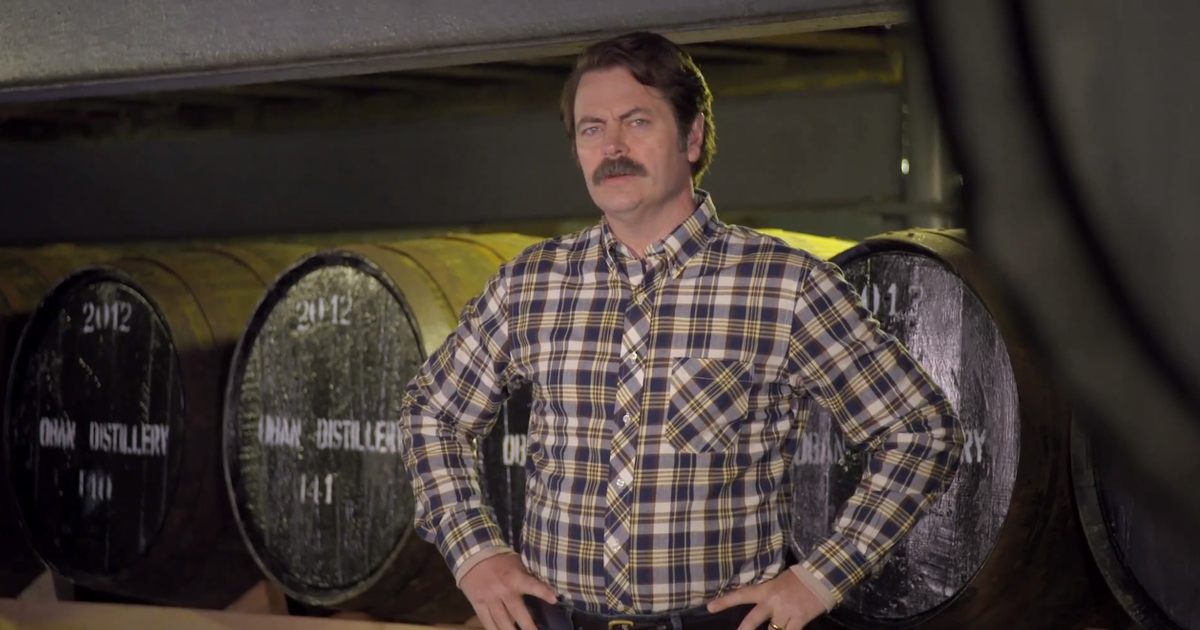 Image result for ron swanson in a flannel