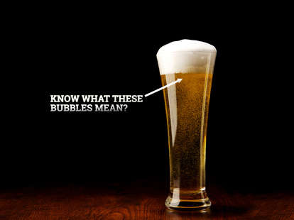 bubbly beer glass