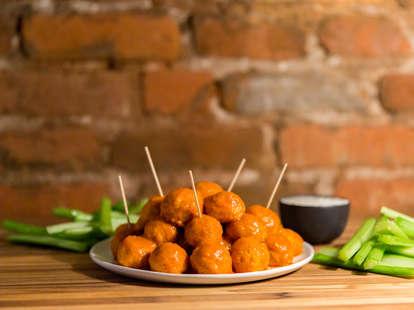 Buffalo Chicken Meatballs — Thrillist Recipes