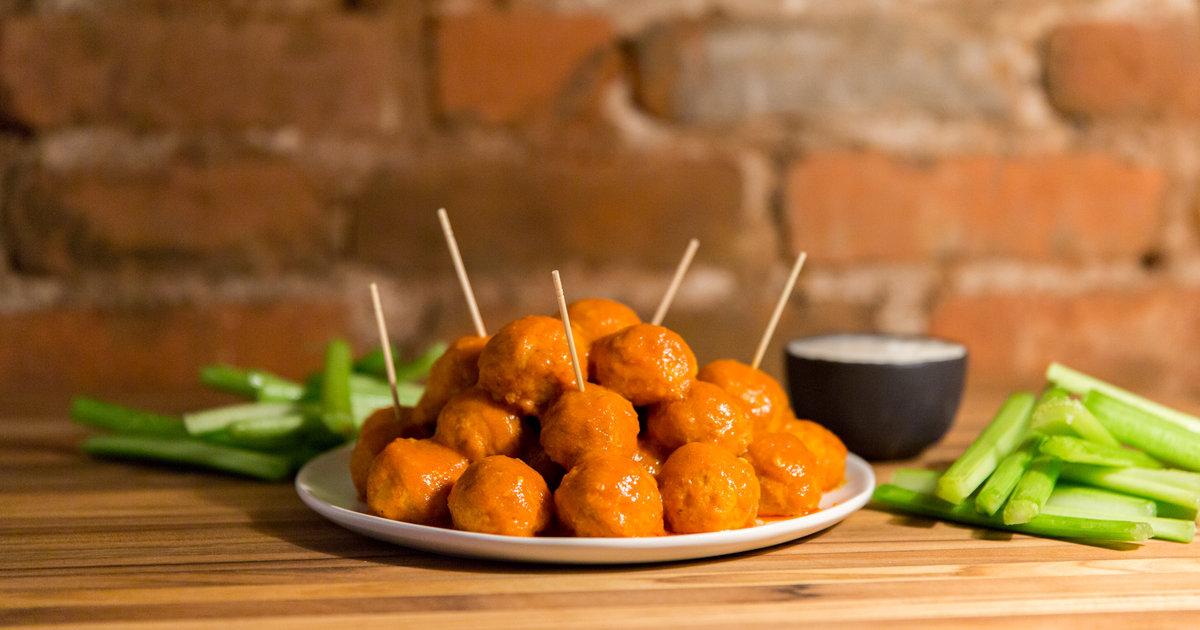 Buffalo Chicken Meatballs Thrillist Recipes