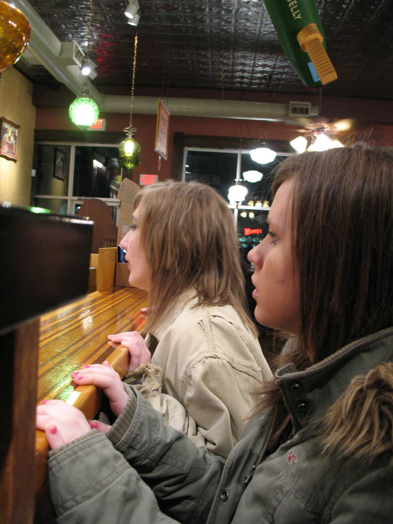 Kids in line at Potbelly's