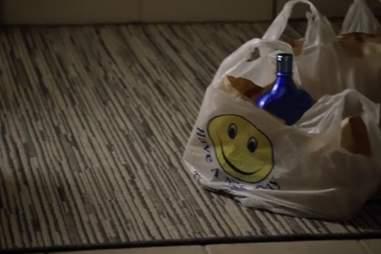 Carrie drinking on Homeland season 3, episode 1