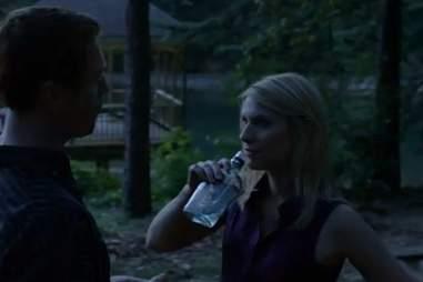 Carrie drinking on Homeland season 1, episode 7