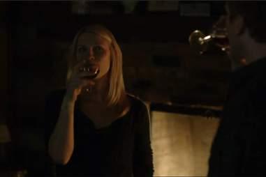 Carrie drinking on Homeland season 2, episode 12