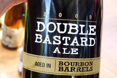 STONE double bastard bourbon ale