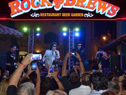 KISS performing at Rock & Brews
