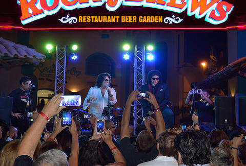 KISS performing at Rock & Brews