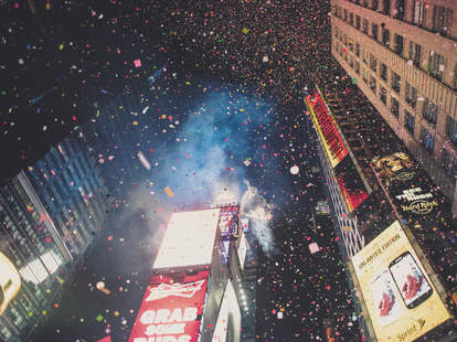 The ball drops
