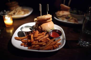 burger and barrel double bacon mangalitsa pork burger