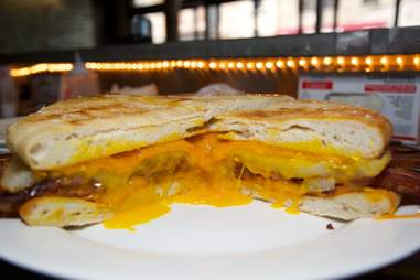 Ostrich Egg Breakfast Sandwich