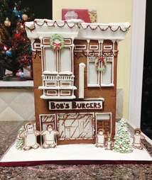 Bob's Burgers gingerbread house