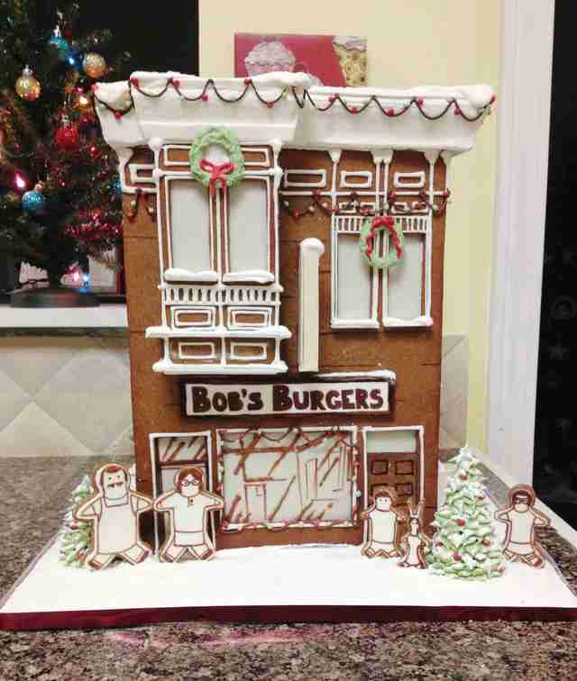 Bob's Burgers gingerbread house