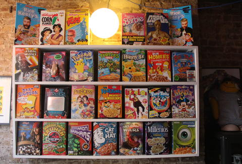 shelves of cereal