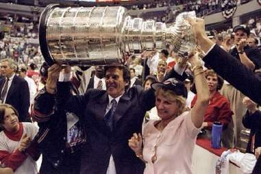 Mike and Marian Ilitch with Stanley Cup