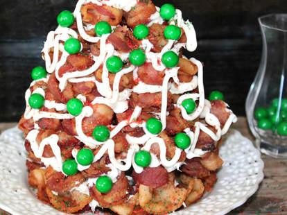 bacon christmas tree oh bite it