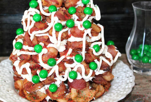 bacon christmas tree oh bite it